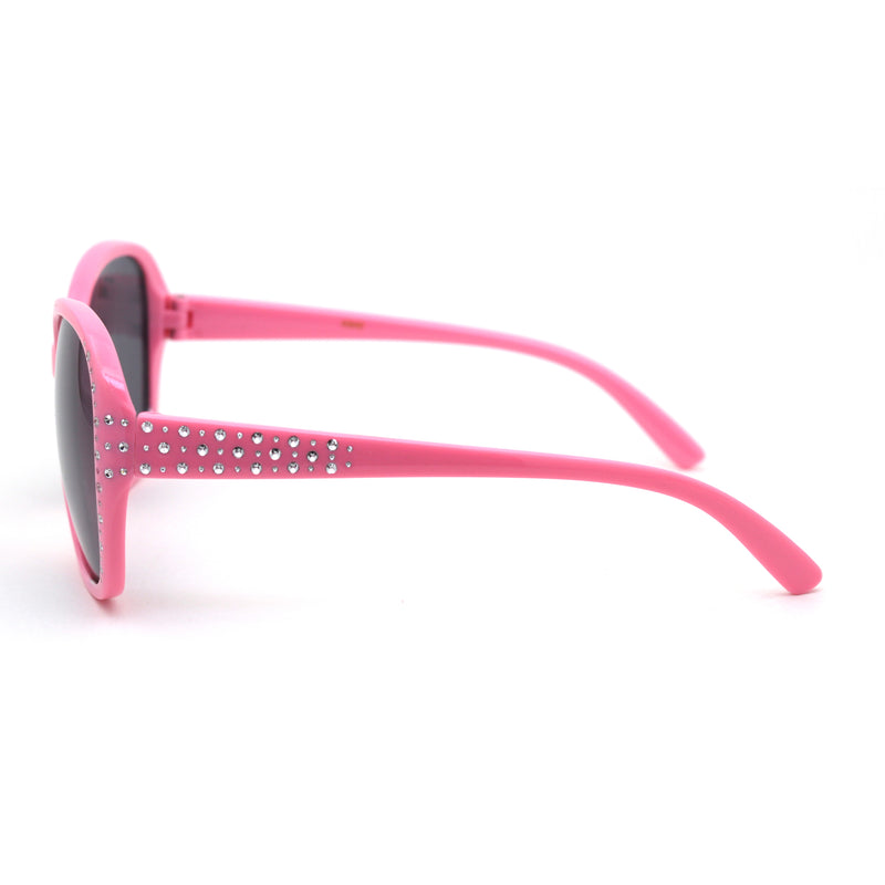 Child Size Girls Sparkling Engraving Plastic Butterfly Sunglasses