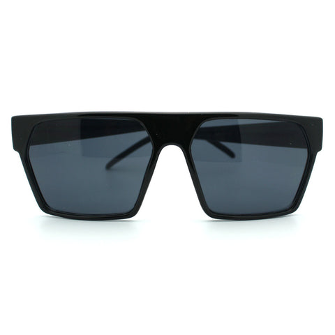 Angular Square Futuristic Geometric Slick Flat Top Sunglasses