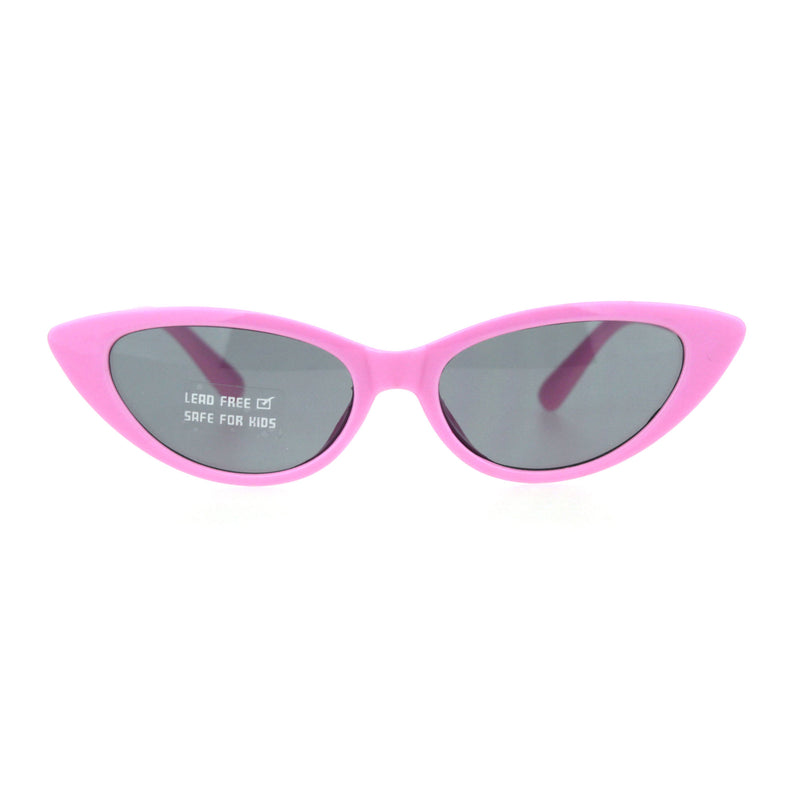 Child Size Girls Mod Gothic Cat Eye Retro Plastic Sunglasses