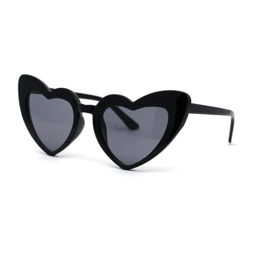 Girls Kid Size Plastic Love Heart Shape Cat Eye Sunglasses