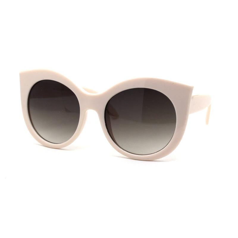 Girls Kid Size Thick Plastic Round Circle Lens Cat Eye Sunglasses