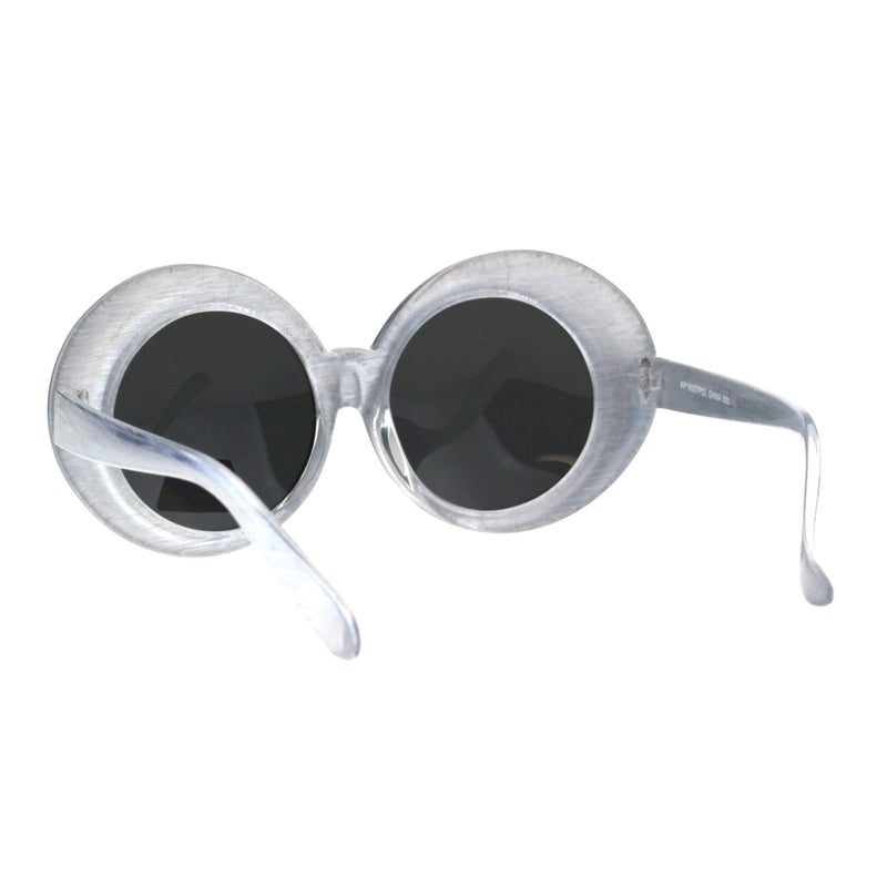 Polarized Childen Girls Mod Round Circle Oval Thick Plastic Fashion Sunglasses
