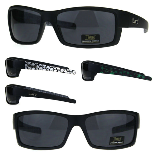 Locs Mens OG Rectangular Warp Cholo Gangster Plastic Sunglasses