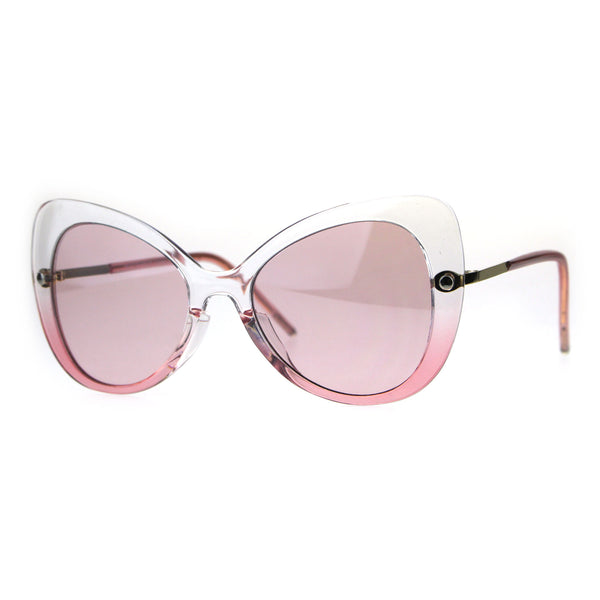 Womens Butterfly Designer Fashion Diva 90s Sunglasses