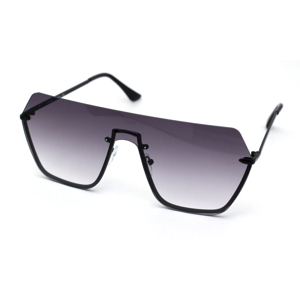 Oversize Luxury Robotic Shield Rimless Trendy Retro Sunglasses