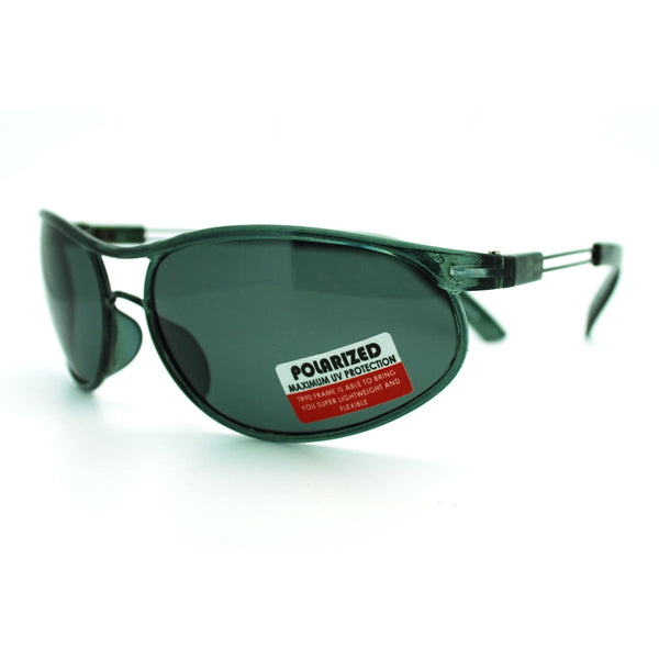 Indestructible TR90 Frame Polarized Lens Sporty Aviator Style Sunglasses