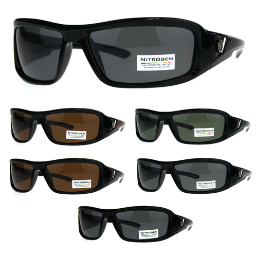 Polarized Futuristic Aerodynamic Warp Sport Mens Sunglasses