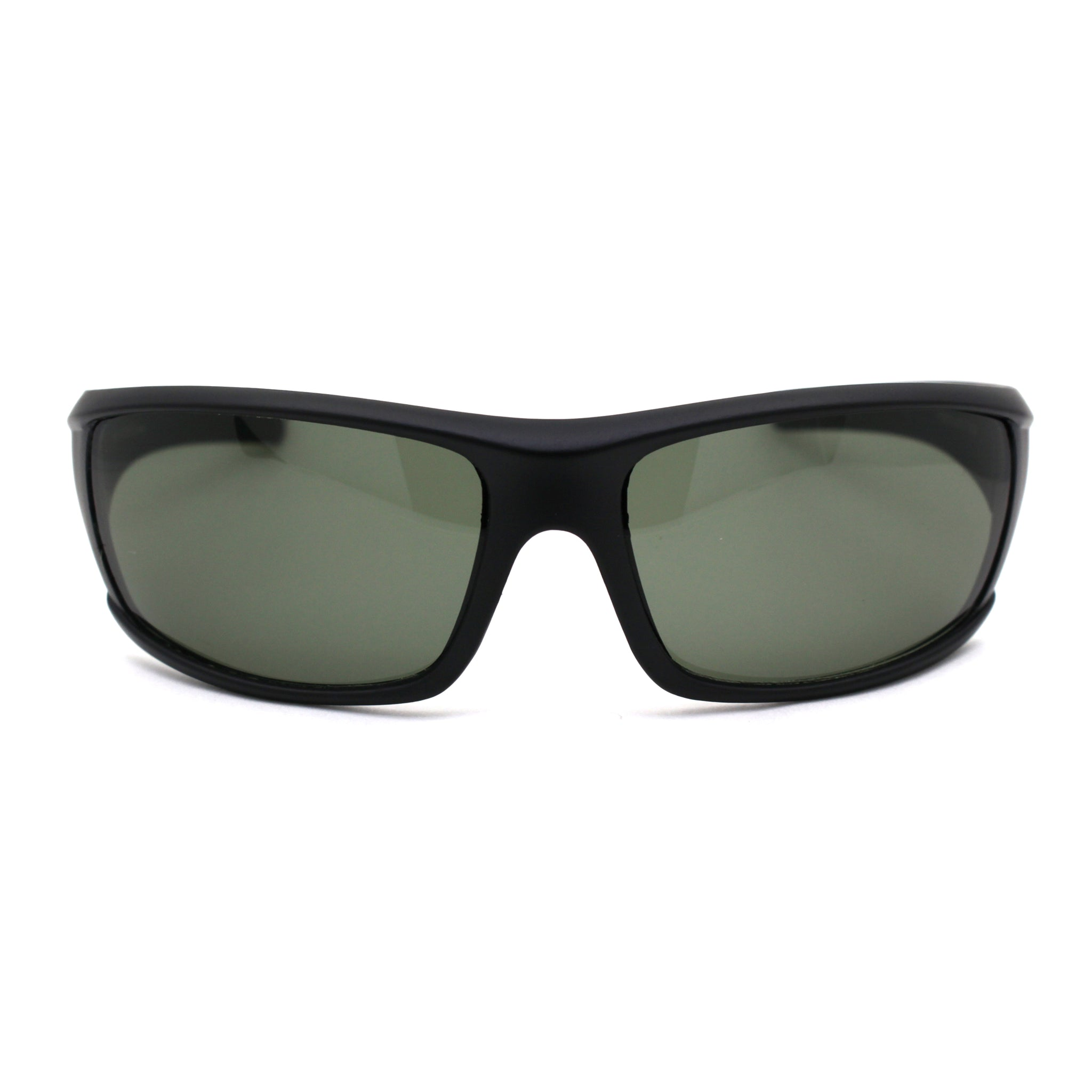 Mens Green Tempered Glass Lens Warp Biker Sport Sunglasses