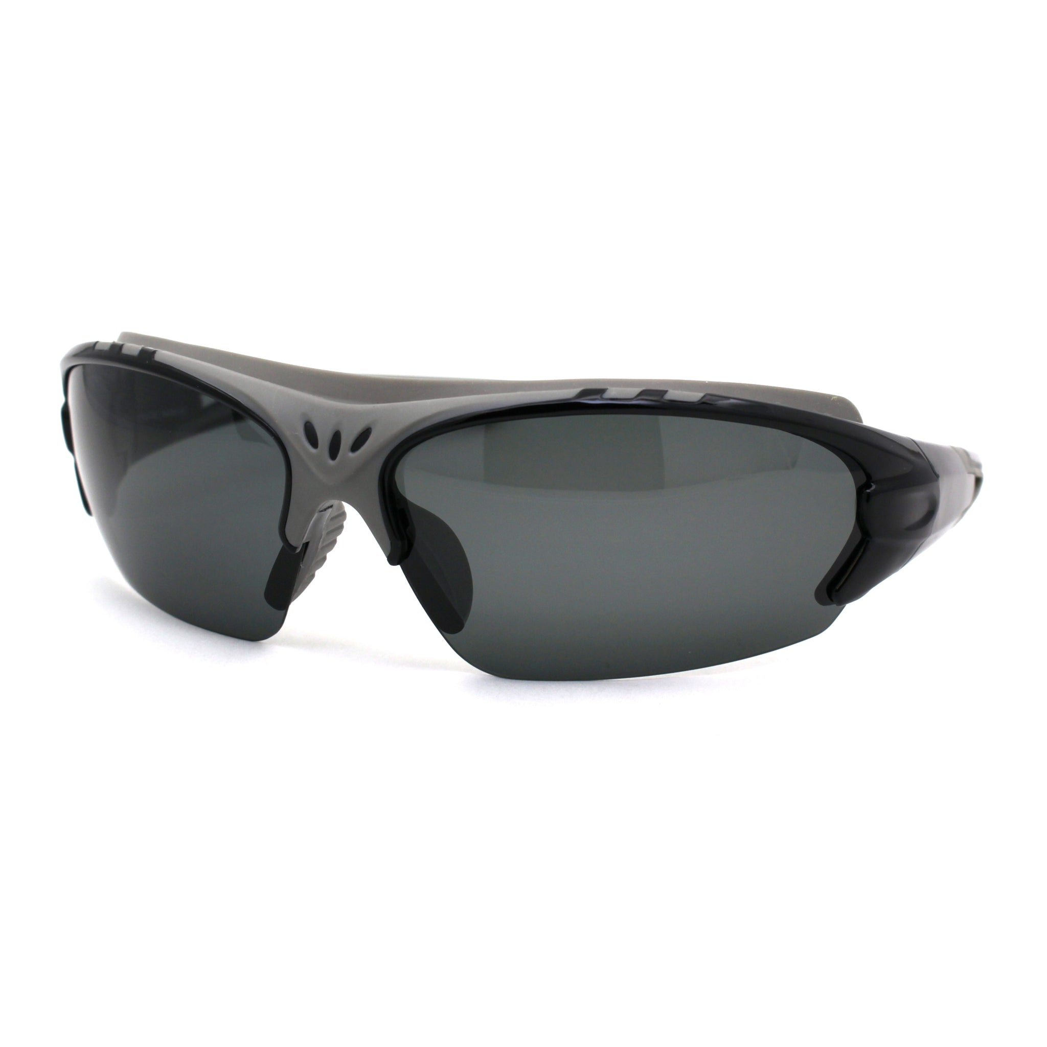 Mens Polarized Top Windbreak Rubber Gasket Wrap Sport Sunglasses