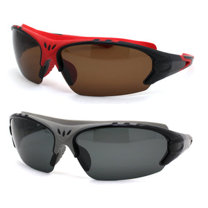 Mens Polarized Top Windbreak Rubber Gasket Warp Sport Sunglasses
