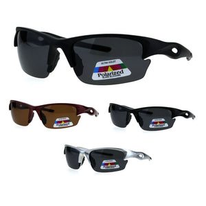 Polarized Antiglare Mens Baseball Half Rim Sport Light Weight Sunglasses