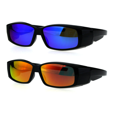 Polarized Antiglare Reflective Color Mirror Lens Mens 58mm Fit Over Sunglasses
