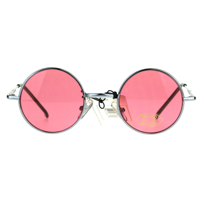 Child Size Hippie Groove Round Circle Light Color Lens Sunglasses
