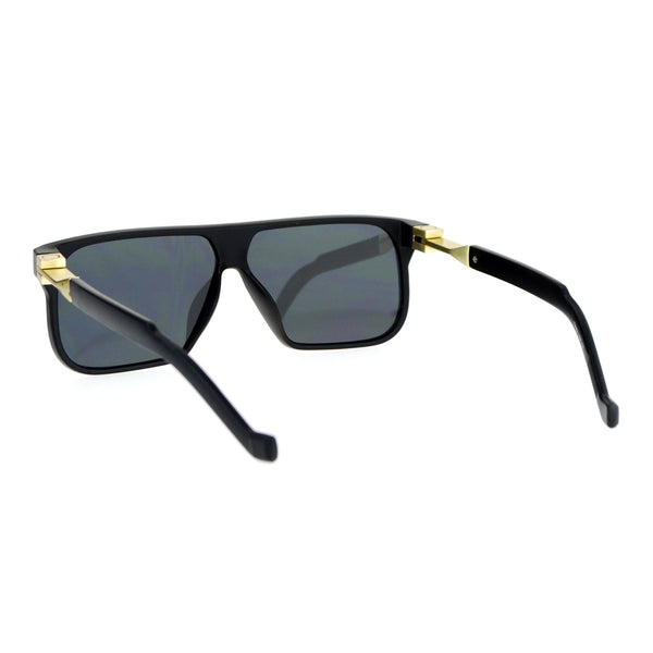SA106 Rectangular Flat Top Futurism Retro Sunglasses