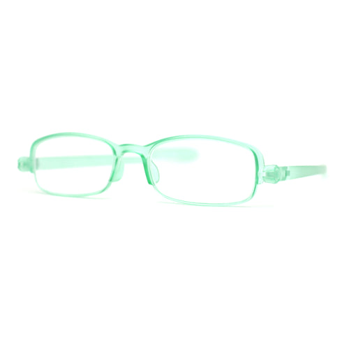 Adjustable Lens Angle Plastic Rectangular Reading Glasses