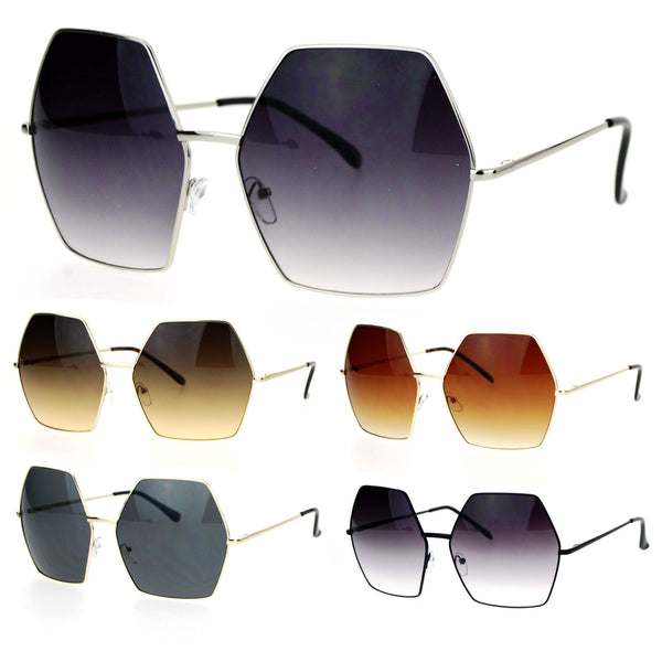 SA106 Retro Oversized Octagon Groove Hippie Sunglasses