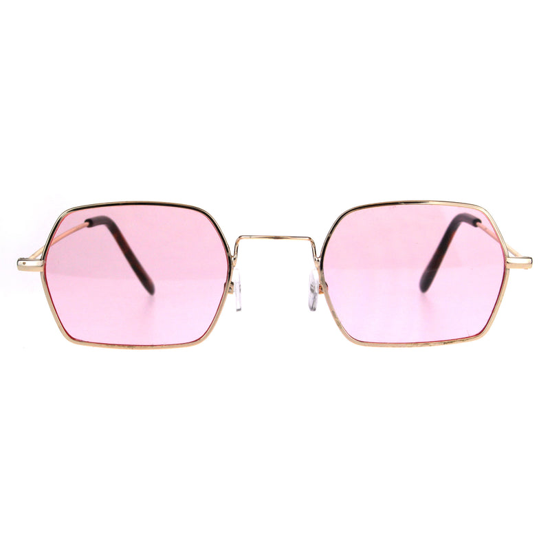 Pop Color Lens Rectangular Pimp Daddy Hippie Sunglasses