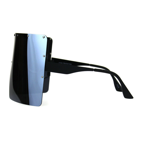 Extra Large Face Mask Color Mirror Futuristic Sunglasses