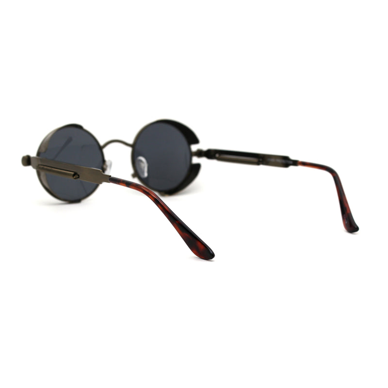 Ultra Narrow Kid Size Steam Punk Round Circle Lens Victorian Sunglasses