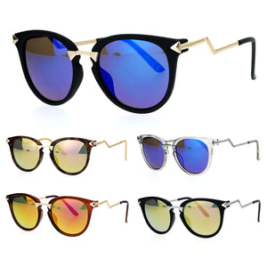 SA106 Revo Lens Crooked Bolt Arrow Arm Horn Rim Retro Sunglasses