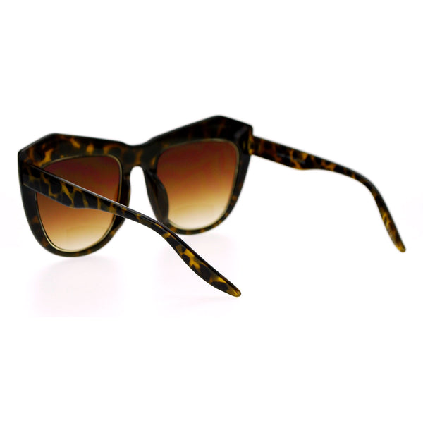 SA106 Oversize Retro Thick Eyebrow Butterfly Sunglasses
