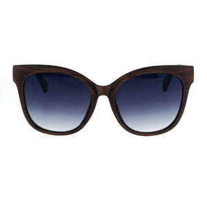 SA106 Wood Grain Thick Plastic Horn Rim Cat Eye Oversize Sunglasses