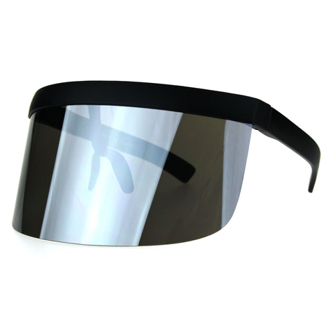 Extra Oversize Visor Style Face Mask Color Mirror Funky Sunglasses