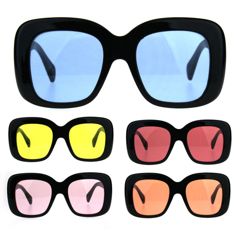 Womens Mod Thick Plastic Butterfly Retro Sunglasses