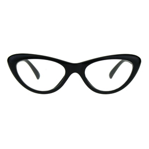 Womens Classic Vintage Goth Narrow Cat Eye Plastic Eyeglasses