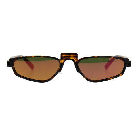 Mirrored Lens Rectangular Plastic Pimp Retro Vintage Sunglasses