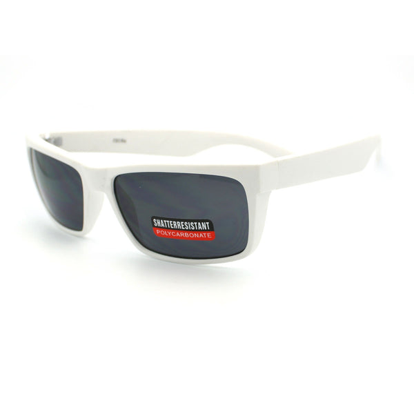 Soft Matte Finish Men's Narrow Rectangular Sporty Sunglasses