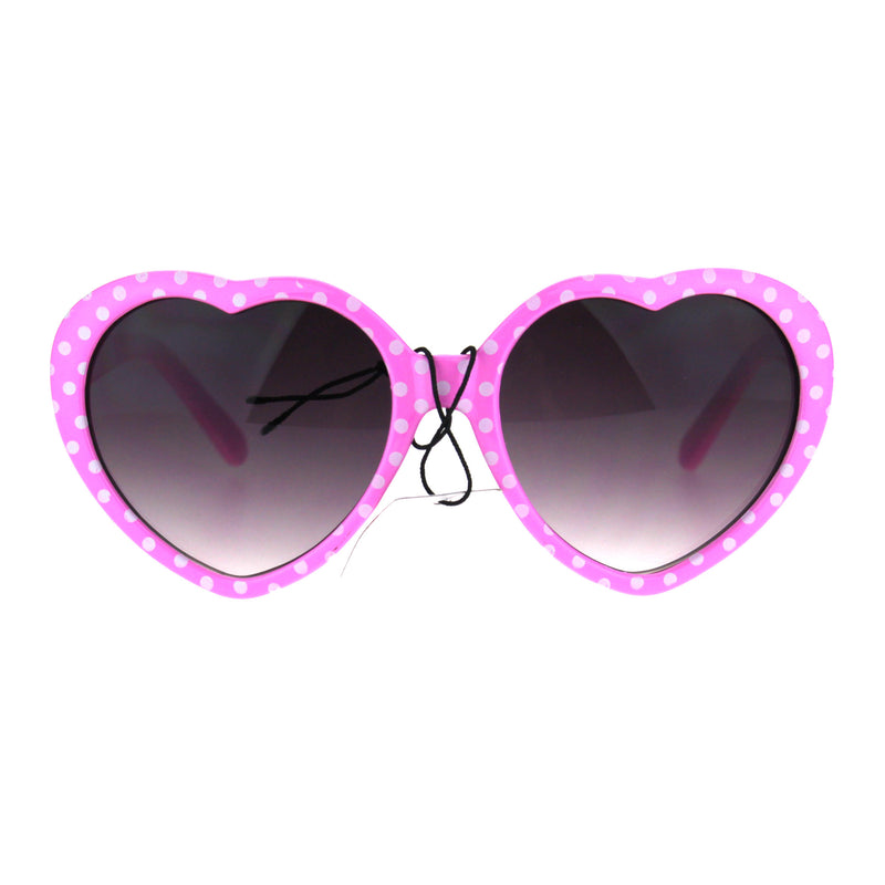 Girls Child Size Retro Polka Dot Valentine Love Plastic Sunglasses