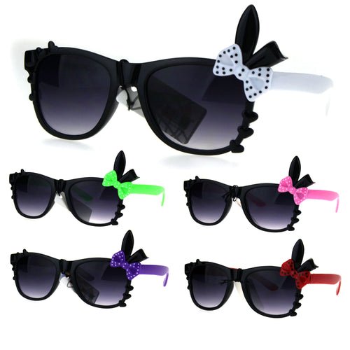 Kids Girls Child Size Bow Bunny Ear Horned Sunglasses