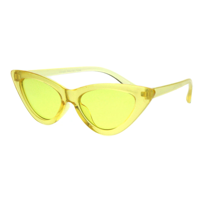Girls Kid Size Gothic Cat Eye Pimp Color Lens Plastic Sunglasses