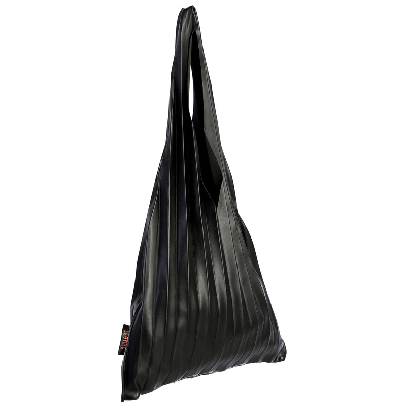 Trendy Chic Pleated Tote Hand Bag