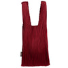 Minimalist Reto Thin Pleated Market Tote Hand Bag