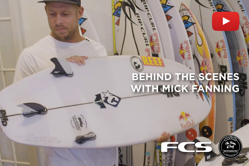 Go behind the scenes with Mick Fanning! FCS Fins
