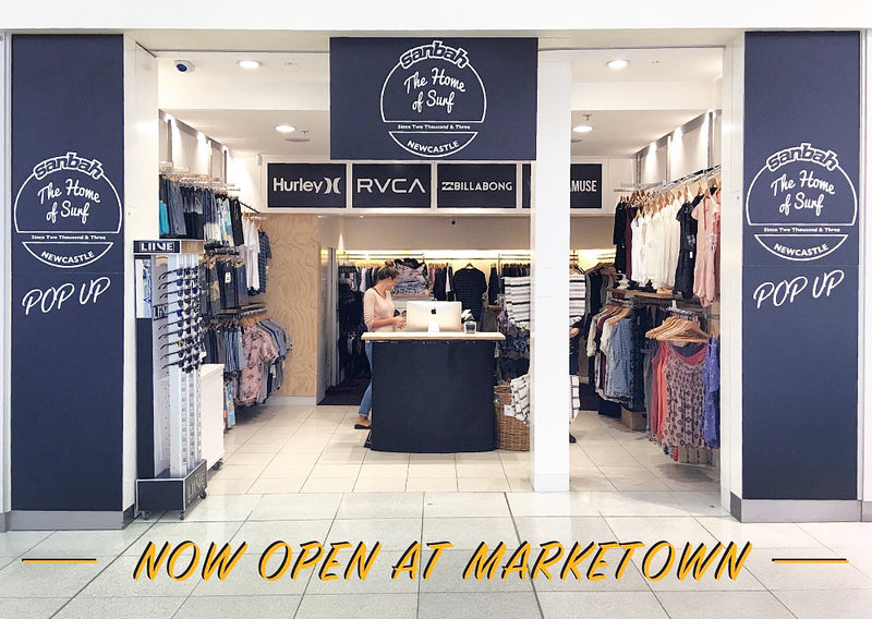 Sanbah Pop Up Store now open at Market Town, Newcastle!