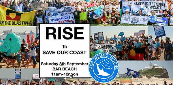 RISE TO SAVE OUR COAST  - STOP SEISMIC TESTING!