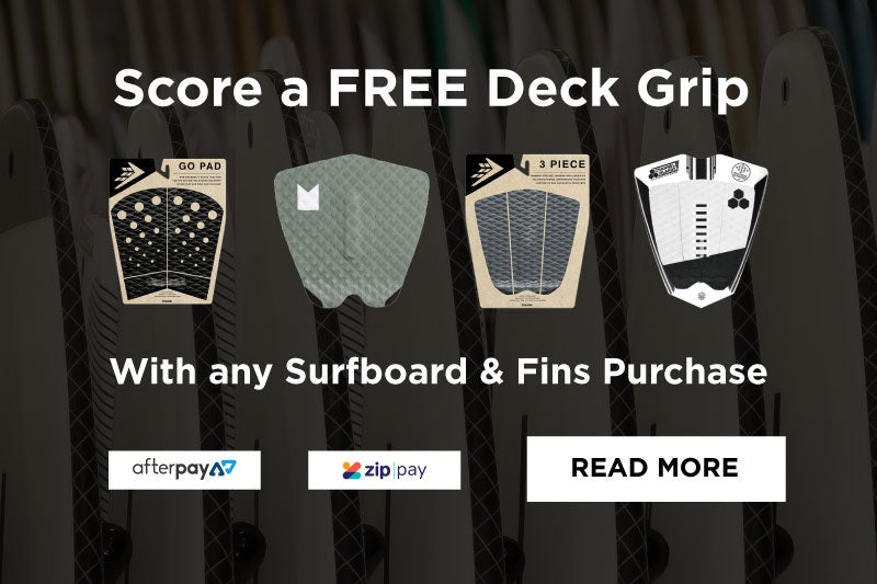 Score a FREE Grip Pad with any Surfboard & Fins purchase.