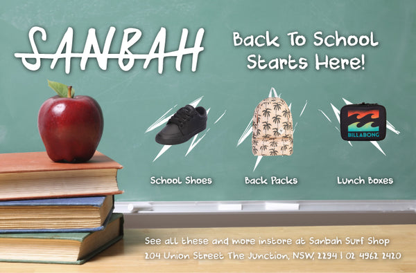 Back To School Starts At Sanbah! School Shoes, Back Packs, Lunch Boxes, Wallets, Pencil Cases & More!
