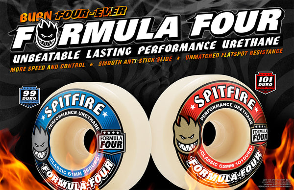 SPITFIRE - Formula Four Wheels - 6 Shapes / 2 Duro's - $69.99