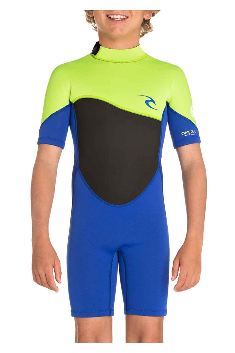 Rip Curl Junior Omega 1.5mm Short Sleeve Spring Wetsuit (6-16 years)