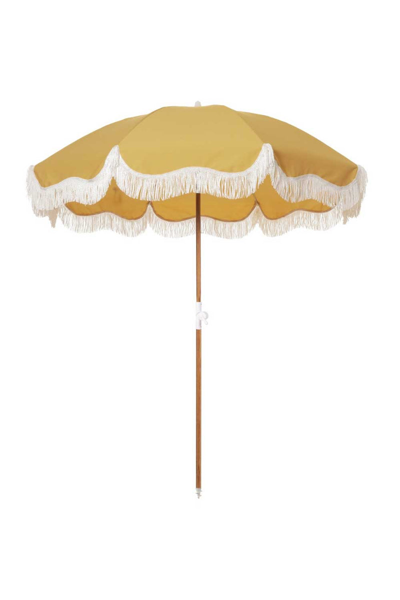 Business & Pleasure Co Holiday Beach Umbrella Vintage Gold