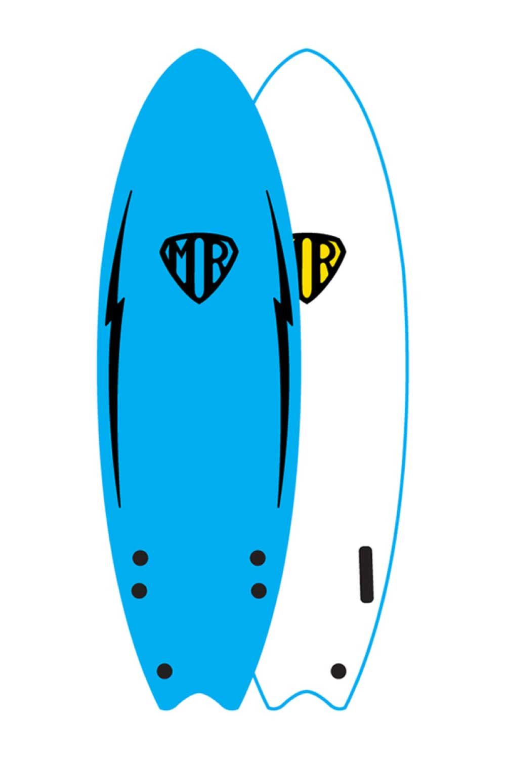 Mark Richards MR 6'0 Ezi Rider Twin Fin Softboard