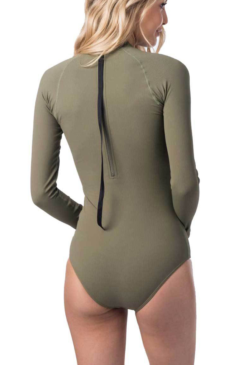 Rip Curl G-Bomb Long Sleeve One Piece Ribbed Back Zip UV Surf Suit
