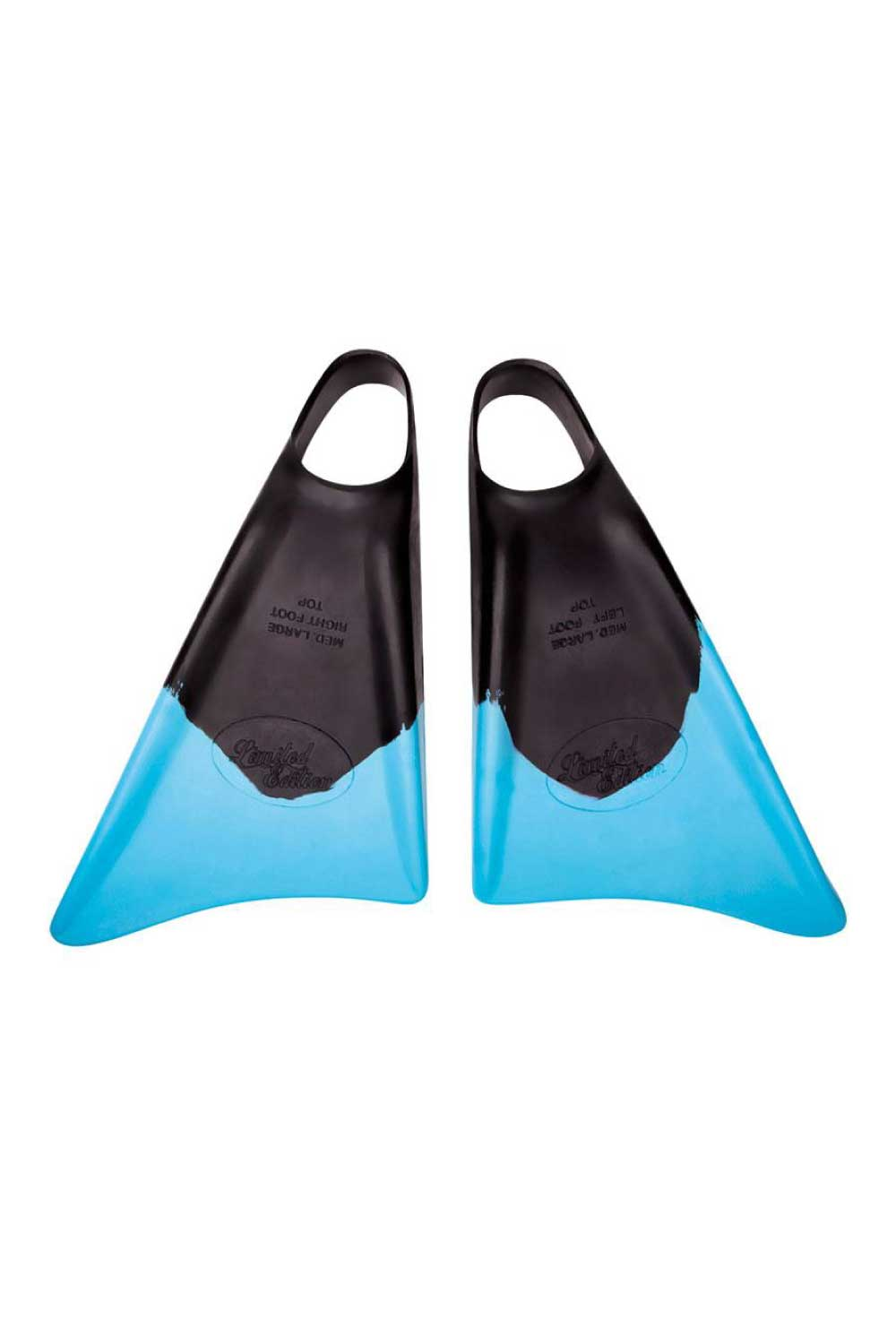 Limited Edition Bodyboard Fins Black/Ice