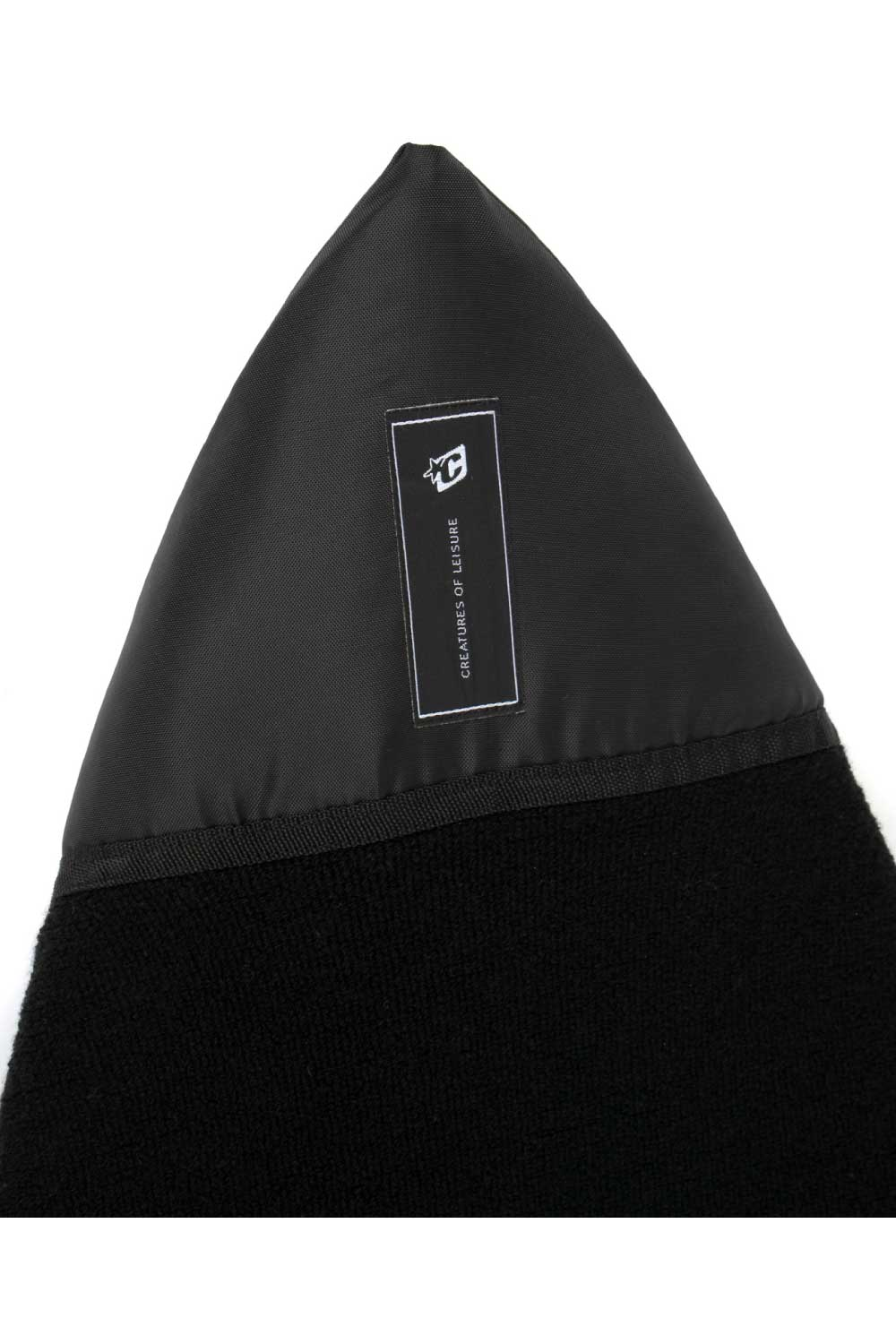 Creatures of Leisure Shortboard Icon Surfboard Sock (Sox) Black Cover