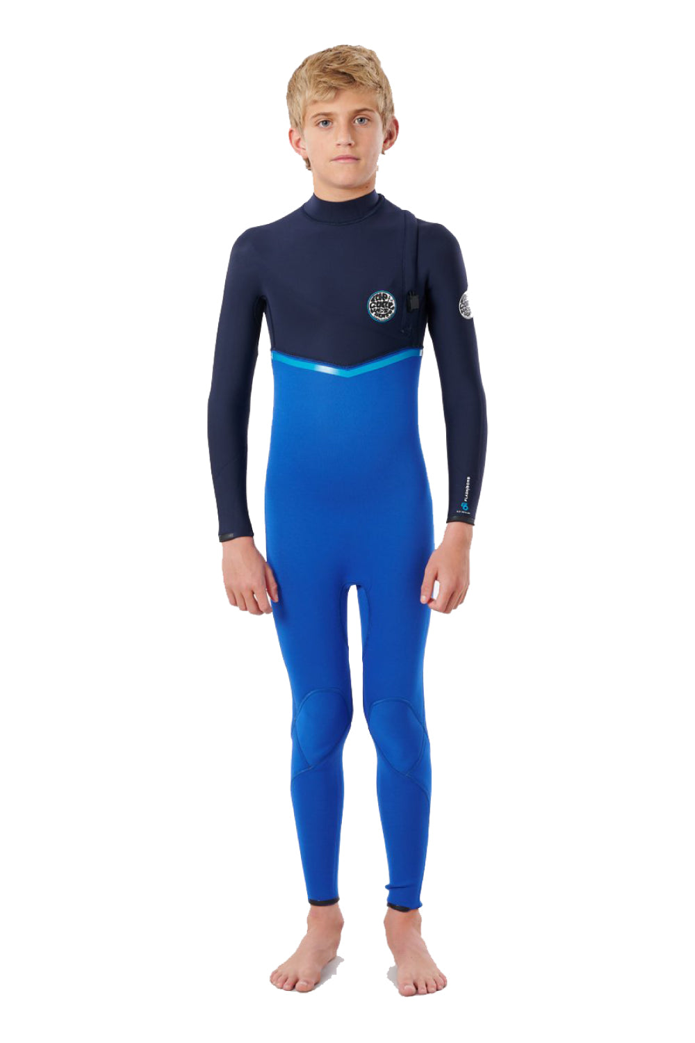 Rip Curl Boys 3/2mm Flashbomb Zip Free Steamer (10-16 years) 2021 blue