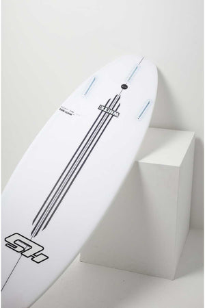 Hayden Shapes HS White NoiZ V2 GROM Surfboard by Craig Anderson